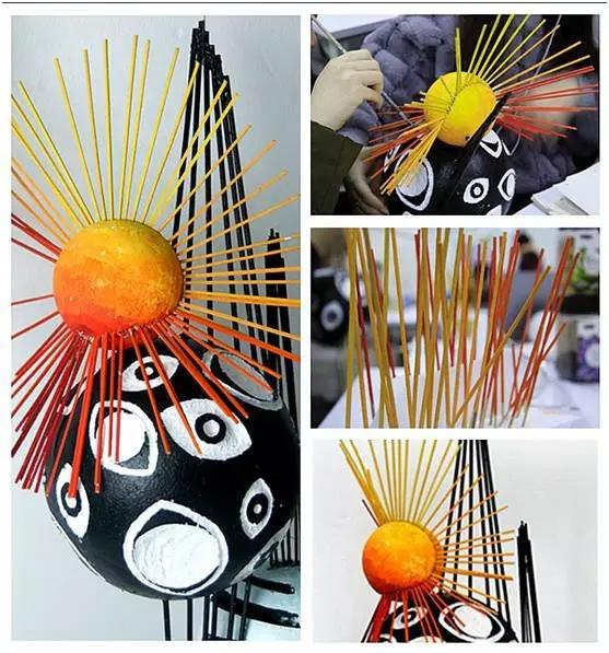 AIP 泡沫球、木条、丙烯颜料