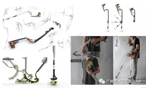 lukas教授分享拐杖设计作品