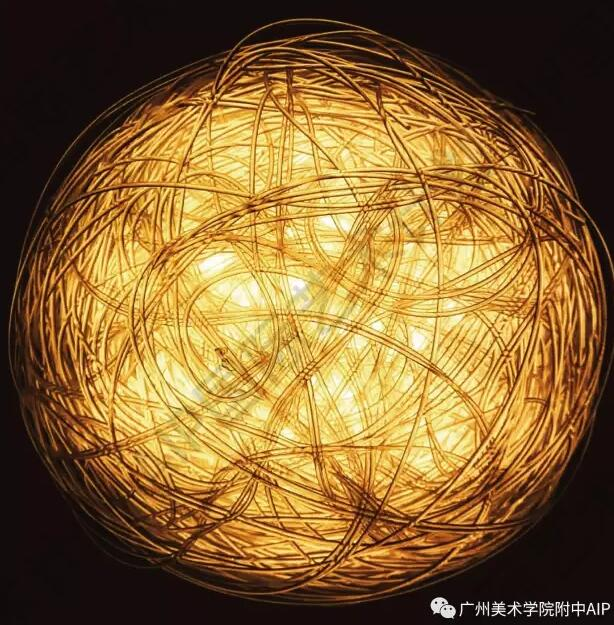 毛线灯具设计手绘