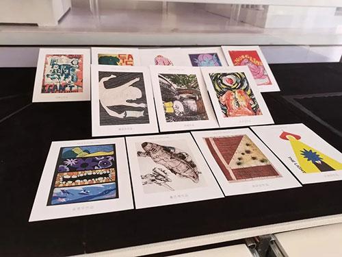 学生作品同款明信片样板展示