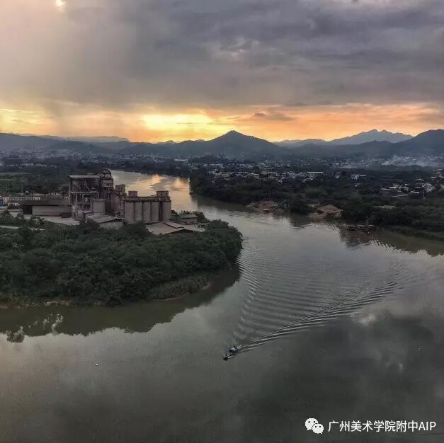 梅江夕照 | Sunset Mei River (陈树强摄)